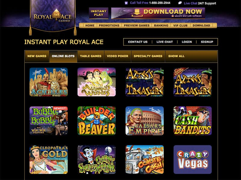 bonus code royal ace casino