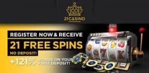 Twenty 21 Casino 21 Free spins