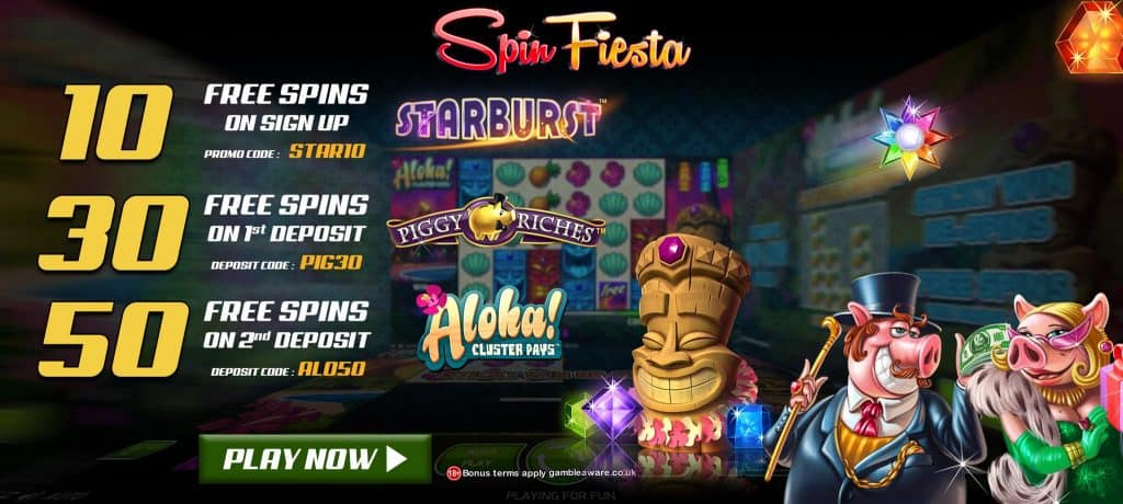 Spin fiesta 10 Free spins