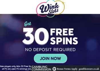 Wink Slots 30 Free Spins Offer