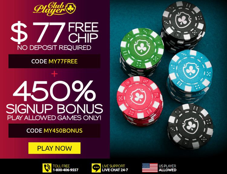 Club Player Casino 77 Free Chip