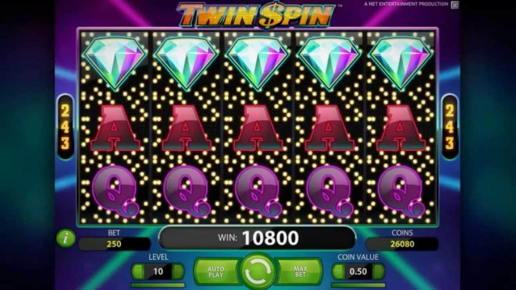 Twin Spin Video Slot 75 Free Spins No Deposit Required