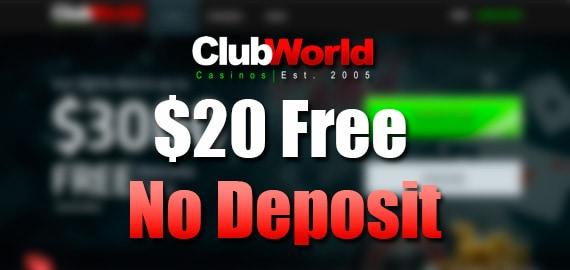 Club WorldUSA$20 Free No Deposit